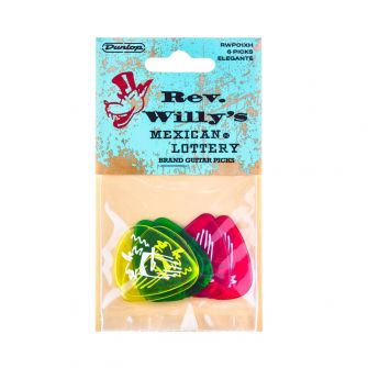 Dunlop Rev Willy's X-Heavy plektrat, 6kpl.