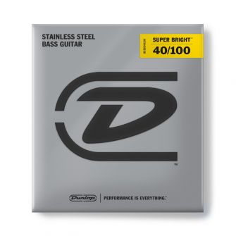 Dunlop Super Bright Steel 40-100 Medium Scale basson kielet.