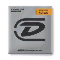 Dunlop Super Bright Steel 40-120 Medium Scale basson kielet.