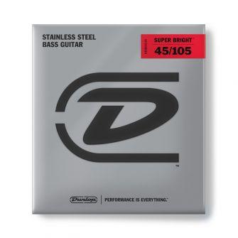 Dunlop Super Bright Steel 45-105 Short Scale basson teräskielet.