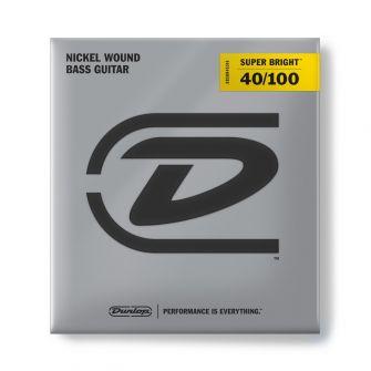 Dunlop Super Bright Nickel 40-100 Medium Scale basson kielet.