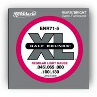 D Addario ENR71-5  5-K. bassokitaran puoli hiottu kielisarja 045-130