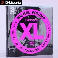 Daddario EXL120-3D 009-042 kielisarja ( 3 settiä)