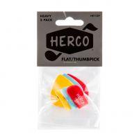 Herco Flat Heavy peukaloplektra, 3kpl.