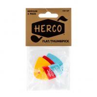 Herco Flat Medium peukaloplektra, 3kpl.