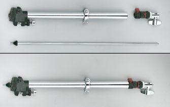 Hihat-tikun voi laittaa varren sisään turvaan kuljetuksen ajaksi.