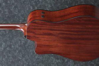 Ibanez AAD300CE-LGS kitaran runko takaa.