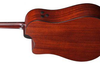 Ibanez AAD400CE-LGS kitaran runko takaa.