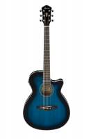 Ibanez AEG8E-TBS Transparent Blue Sunburst High Gloss.