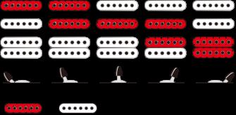 Ibanez GRX40-MGN sähkökitaran mikrofonien kytkentä.