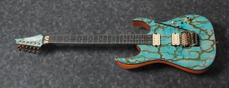 Ibanez JCRG2103LBT kitara kulmasta kuvattuna.