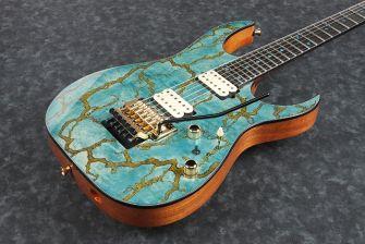 Ibanez JCRG2103LBT kitaran kansi lähikuvassa.