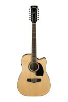 Ibanez PF1512ECENT - edullinen 12-kielinen kitara.