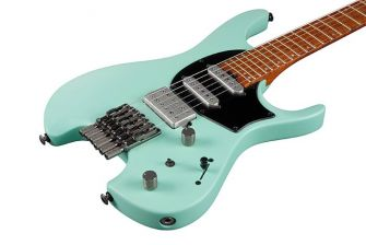 Ibanez Q54-SFM kitaran runko lähikuvassa.