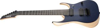 Ibanez RGDR4427FX-NTF 7-kielinen kitara kulmasta kuvattuna.