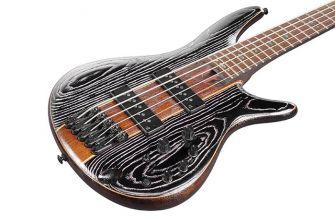 Ibanez SR1305SB-MGL basson kansi lähikuvassa.