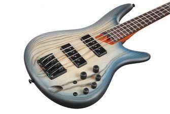 Ibanez SR600E-CTF basson runko lähikuvassa.