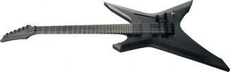Ibanez XPTB620BKF kitara kulmasta kuvattuna.