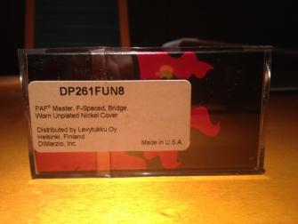 DiMarzio DP261 Custom laatikko takaa.