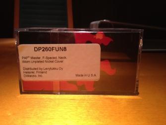 DiMarzio DP260 Custom laatikon takapuoli.