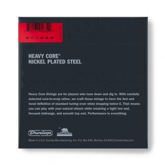 Dunlop Heavy Core 10-48 kielisetin paketti takaa.