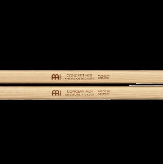Meinl HD1 Concert Hickory rumpukapuloiden logot.