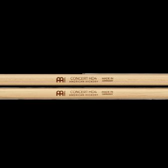 Meinl HD4 Concert Hickory rumpukapuloiden logot.