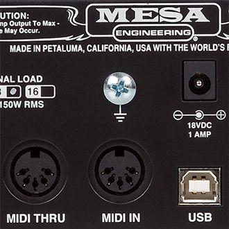 CabClone IR MIDI IN ja -THRU -väylät.