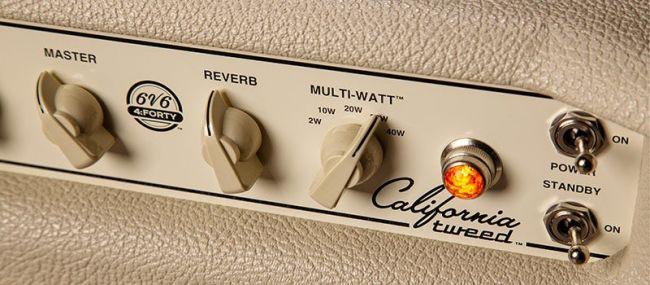 California Tweed -vahvistimen Multi-Watt -kytkimen eri teholuokat kuulostavat ja tuntuvat keskenään erilaisilta.
