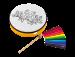 """Nino Percussion 10"""" väritettävä kehärumpu"""