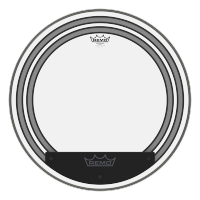 "Remo 24"" Powersonic Clear Bass"