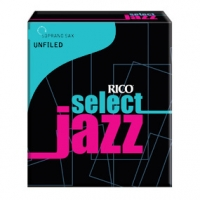 Rico 3S Select Jazz unfiled sopraanosaksofonin lehtilaatikko (10 lehteä)