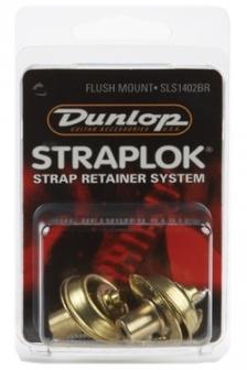 Dunlop SLS1402BR Flush messinkinen hihnalukko, pari
