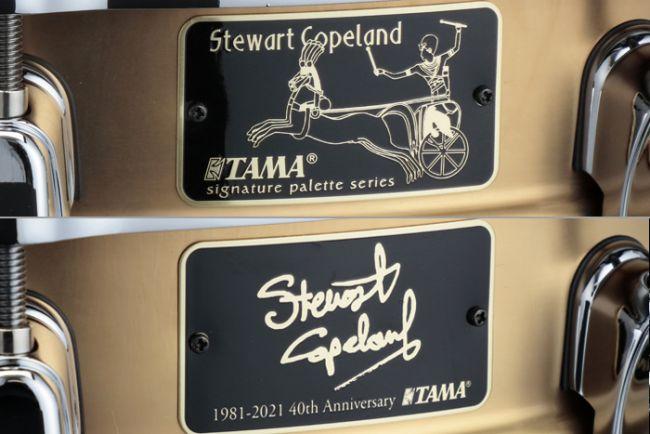 Tama Stewart Copeland 40th Signature-virvelin nimilaatat.