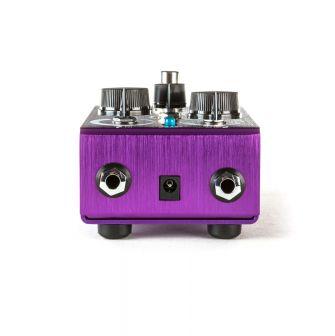 Purple Platypus -pedaalin sisään- ja ulostulot.